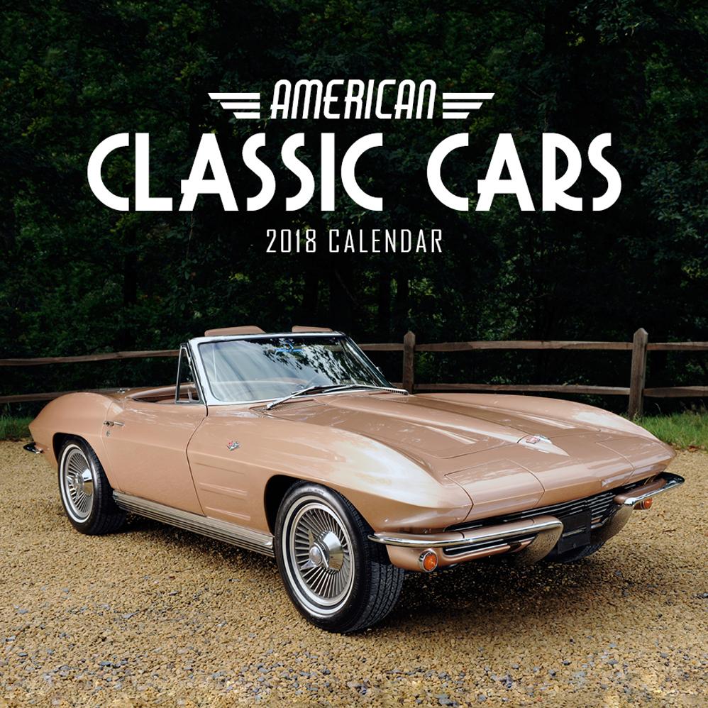 American Classic Cars Calendar Paper Pocket Gift Ideas - Sports cars calendar 2018
